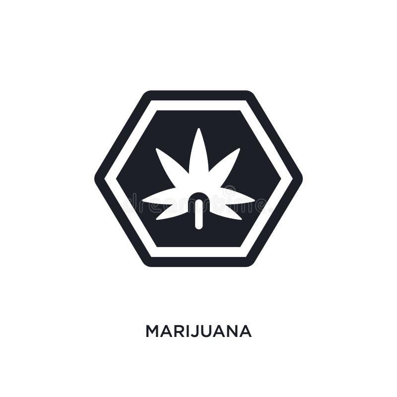 icona isolata marijuana illustrazione semplice dell'elemento dalle icone di concetto dei segni progettazione editabile di simbolo illustrazione vettoriale