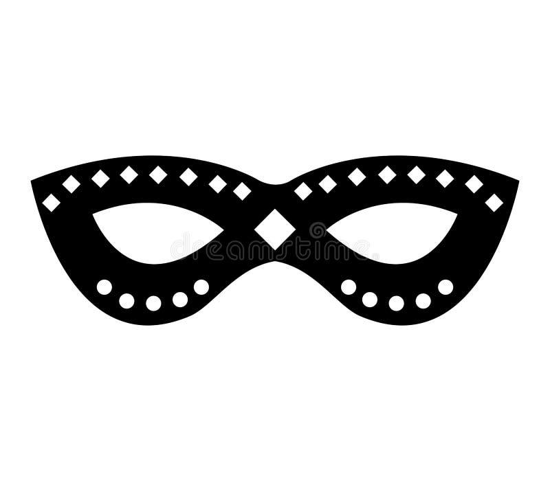 Icona isolata maschera del partito illustrazione vettoriale