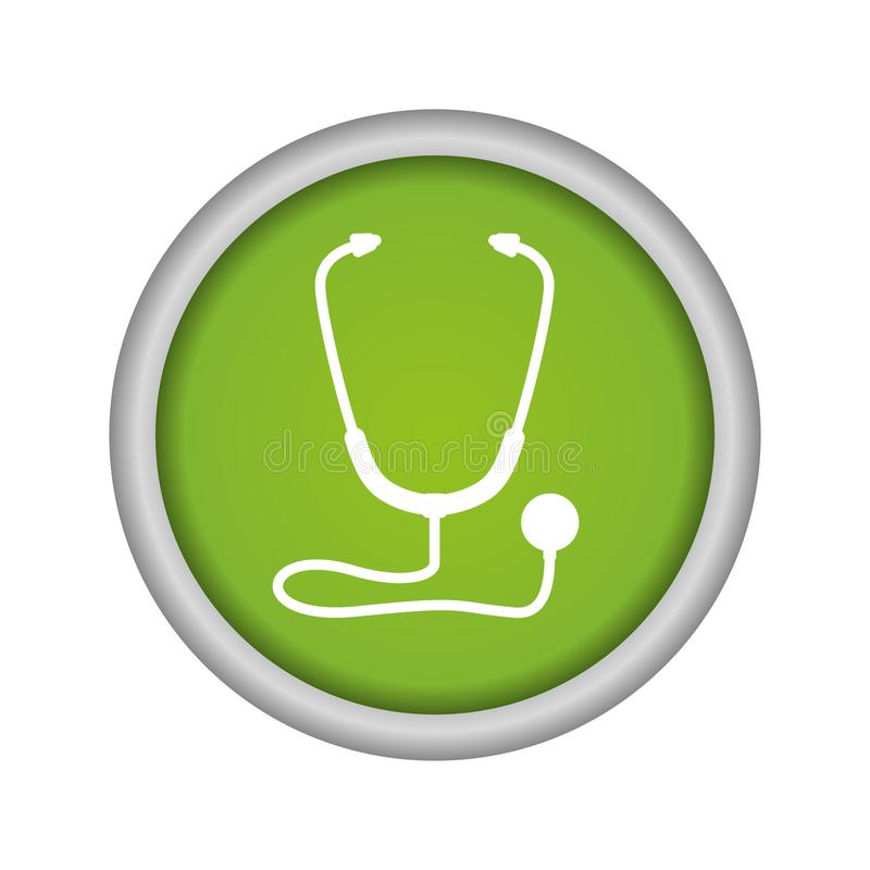 Icona isolata medica dello stetoscopio royalty illustrazione gratis