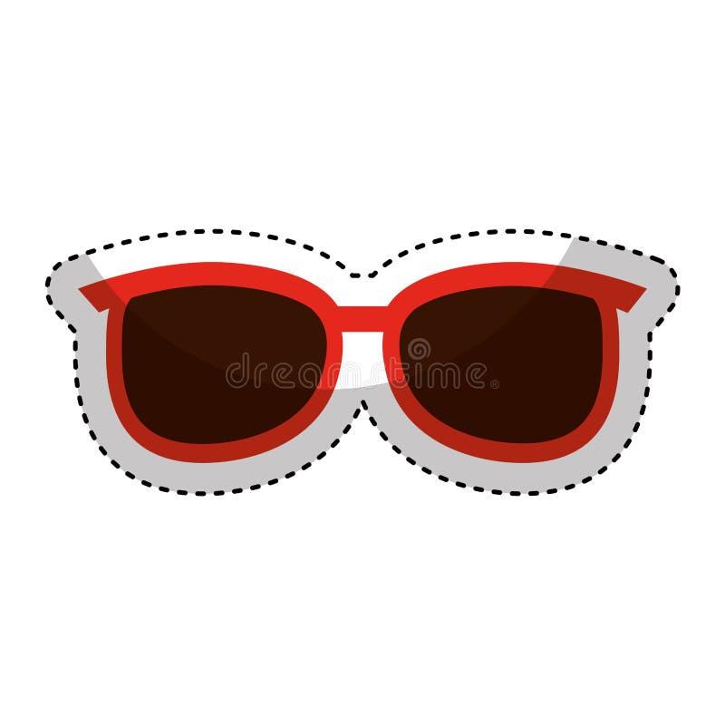 icona isolata modo di vetro dell'occhio illustrazione di stock
