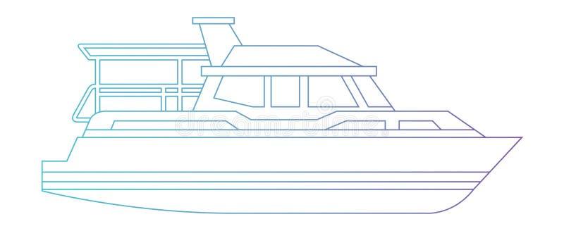 Icona isolata nave dell'yacht illustrazione di stock