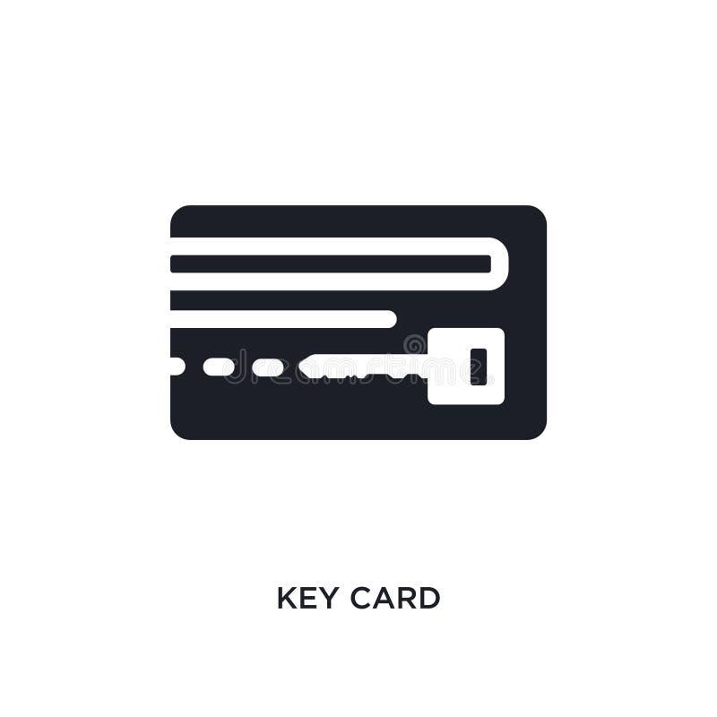 icona isolata nera di vettore della carta chiave illustrazione semplice dell'elemento dalle icone di vettore di concetto dell'hot illustrazione vettoriale