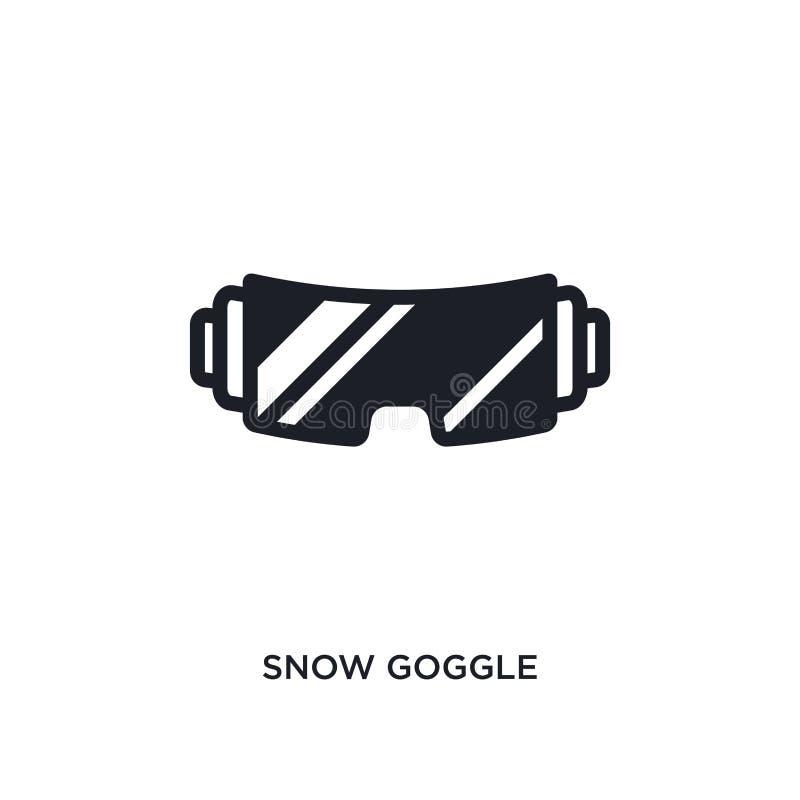 icona isolata occhiali di protezione della neve illustrazione semplice dell'elemento dalle icone di concetto di inverno progettaz illustrazione di stock