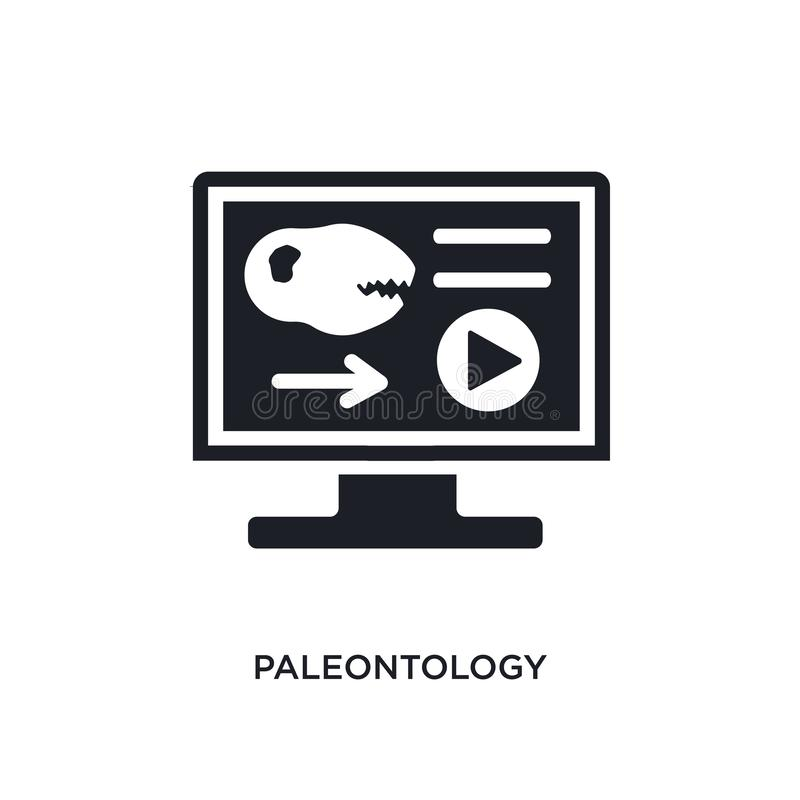 icona isolata paleontologia illustrazione semplice dell'elemento dalle icone di concetto di istruzione e di e-learning logo edita illustrazione vettoriale