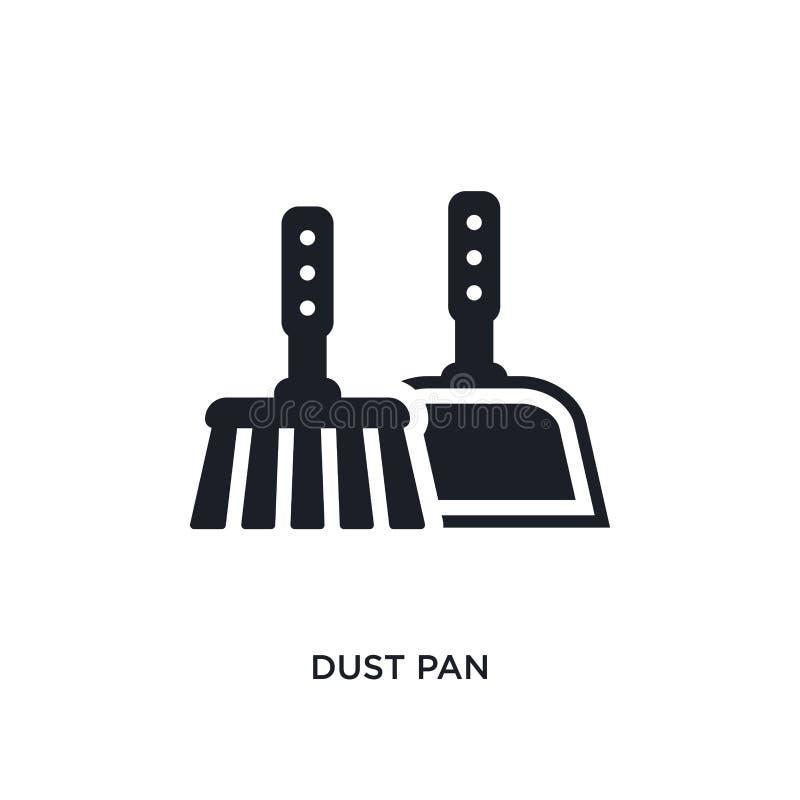icona isolata pentola della polvere illustrazione semplice dell'elemento dalle icone di pulizia di concetto progettazione editabi royalty illustrazione gratis