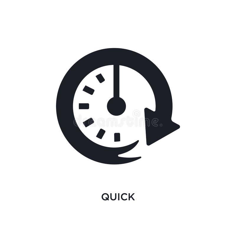 icona isolata rapida nera di vettore illustrazione semplice dell'elemento dalle icone di vettore di concetto di partenza progetta royalty illustrazione gratis