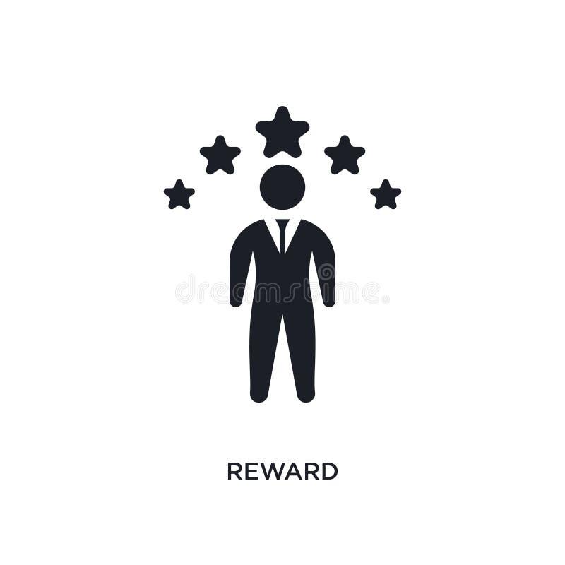 icona isolata ricompensa illustrazione semplice dell'elemento dalle icone crowdfunding di concetto progettazione editabile di sim fotografia stock libera da diritti