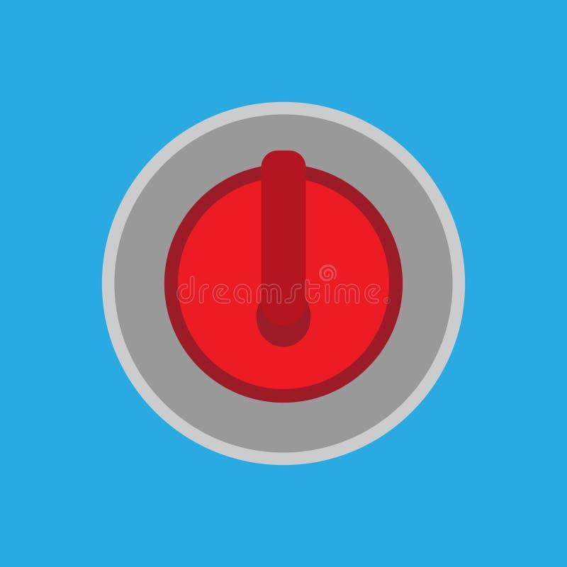 Icona isolata rossa d'arricciatura di vettore di sport della palla dell'attrezzatura della pietra Vista superiore della siluetta  illustrazione di stock