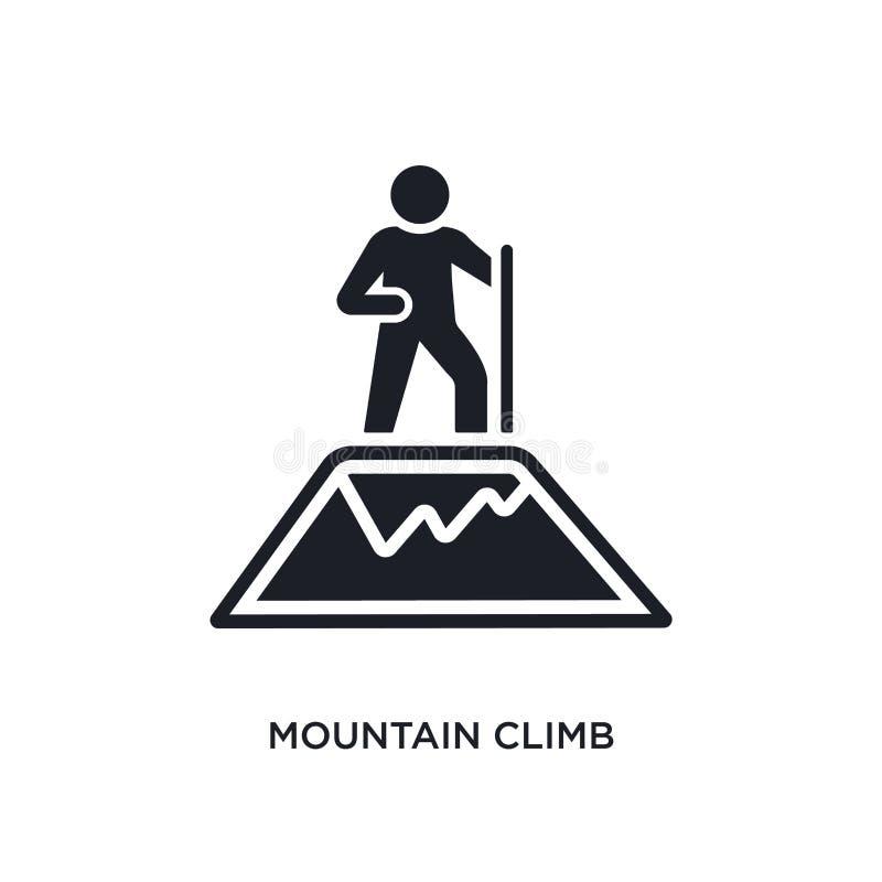 icona isolata salita della montagna illustrazione semplice dell'elemento dalle icone di concetto degli esseri umani simbolo edita illustrazione vettoriale