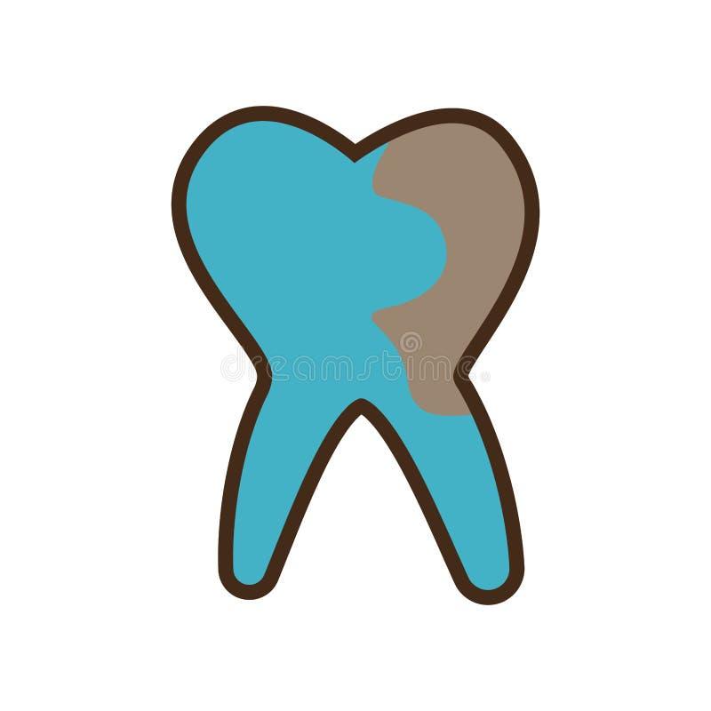 Icona isolata sanità dentaria royalty illustrazione gratis