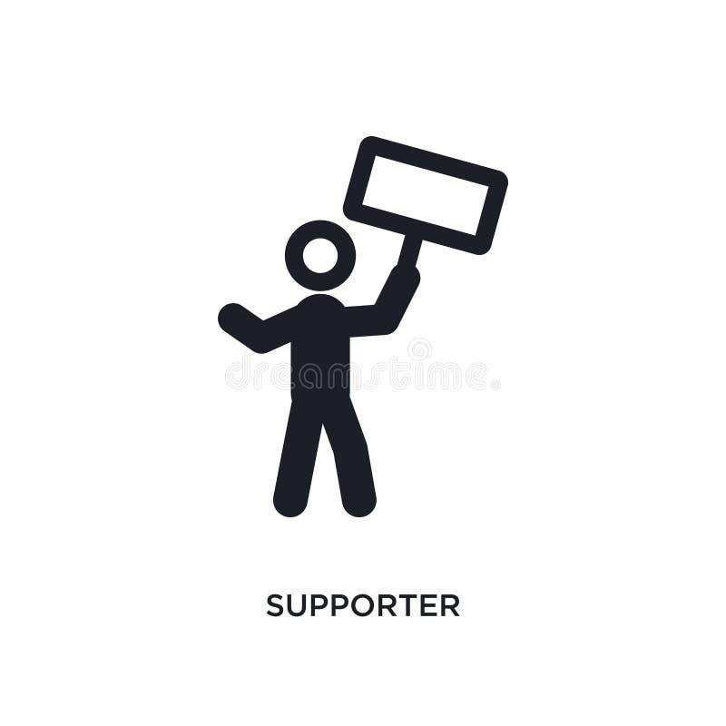 icona isolata sostenitore illustrazione semplice dell'elemento dalle icone politiche di concetto progettazione editabile di simbo royalty illustrazione gratis
