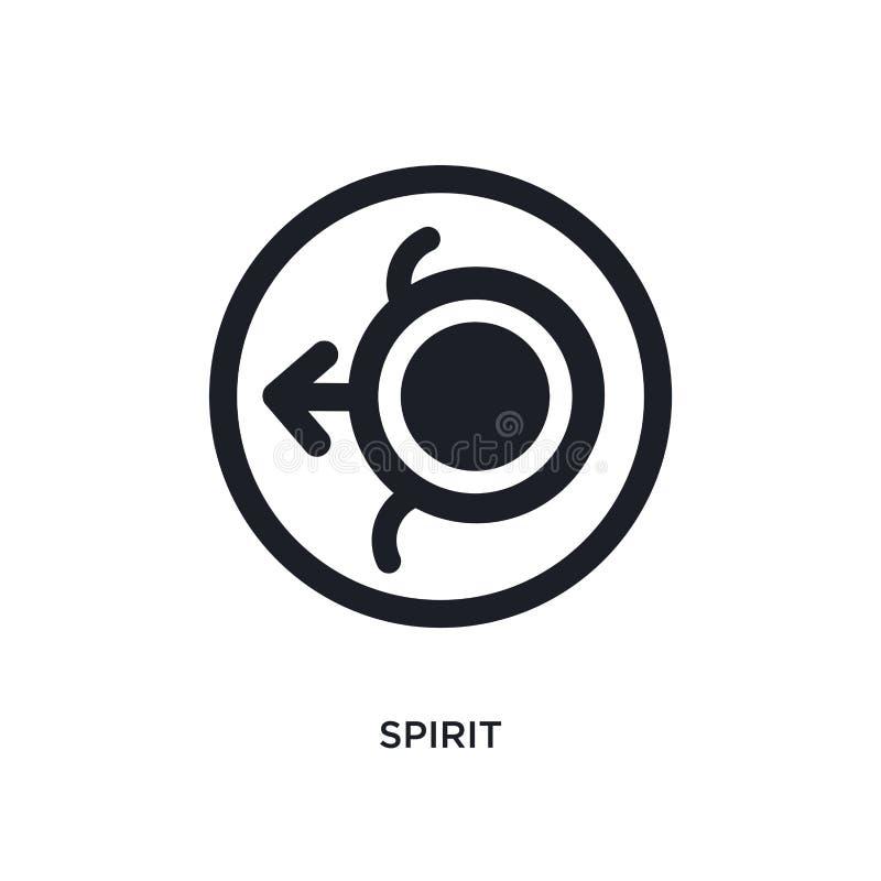 icona isolata spirito illustrazione semplice dell'elemento dalle icone di concetto dello zodiaco progettazione editabile di simbo illustrazione di stock