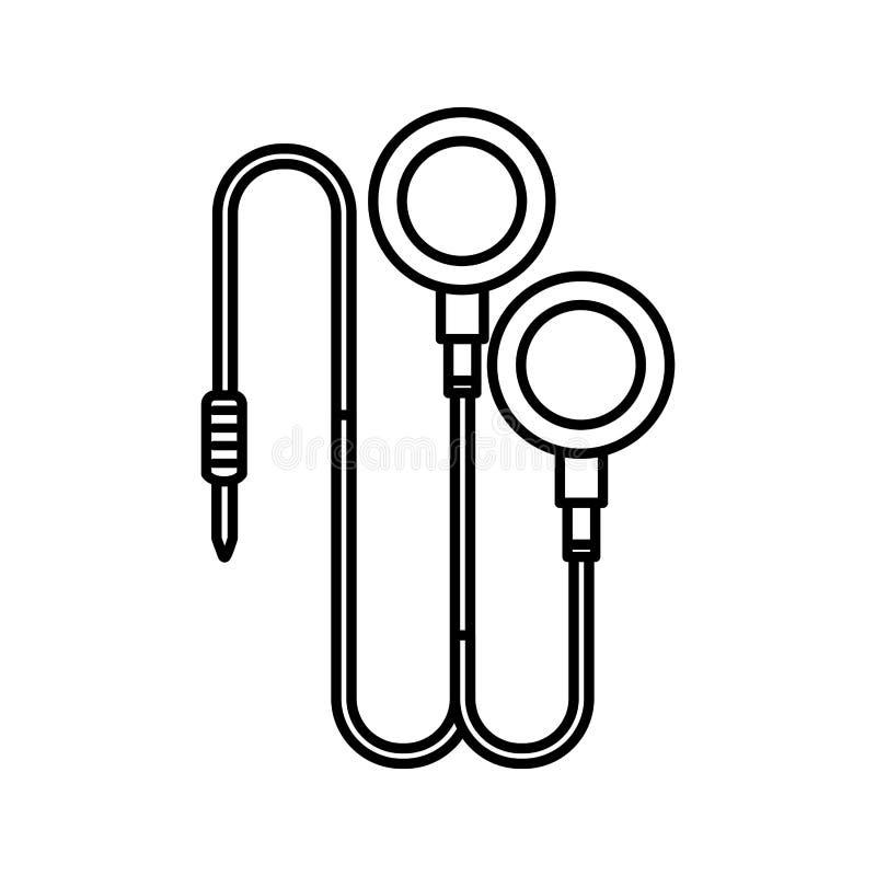 Icona isolata suono delle cuffie illustrazione vettoriale