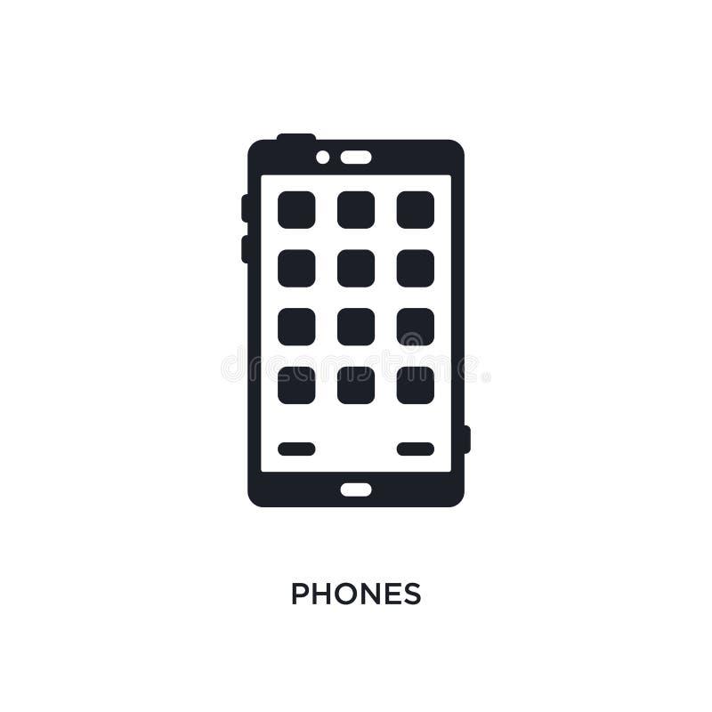 icona isolata telefoni illustrazione semplice dell'elemento dalle icone di concetto degli apparecchi elettronici progettazione ed royalty illustrazione gratis