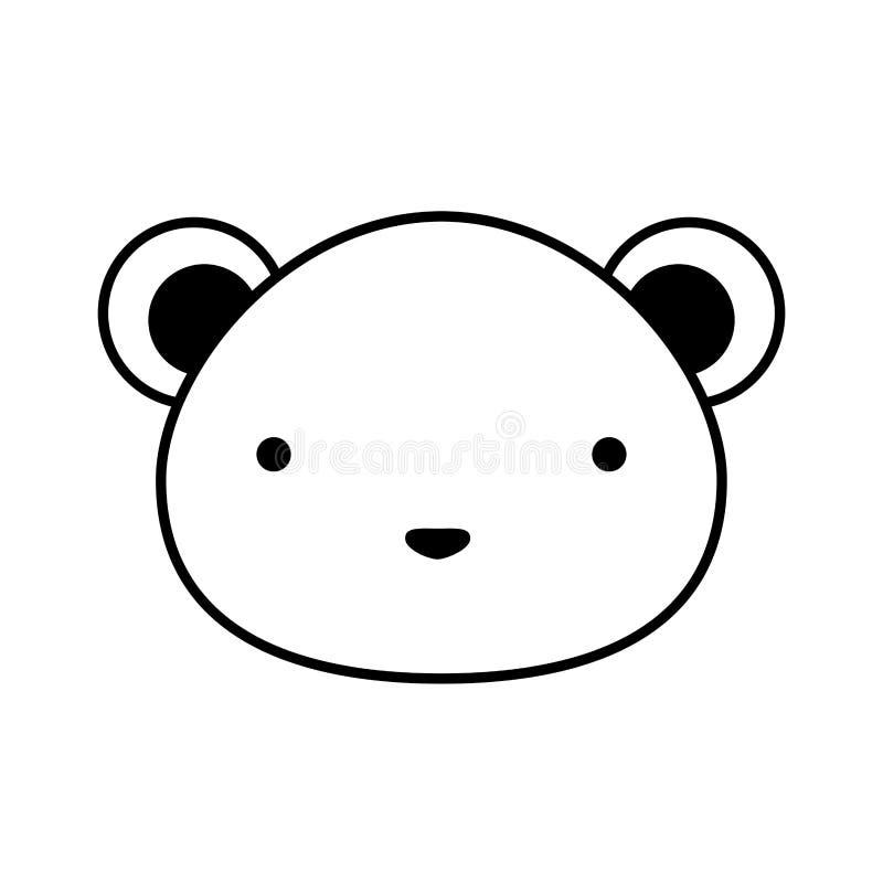 Icona isolata topo sveglio illustrazione di stock