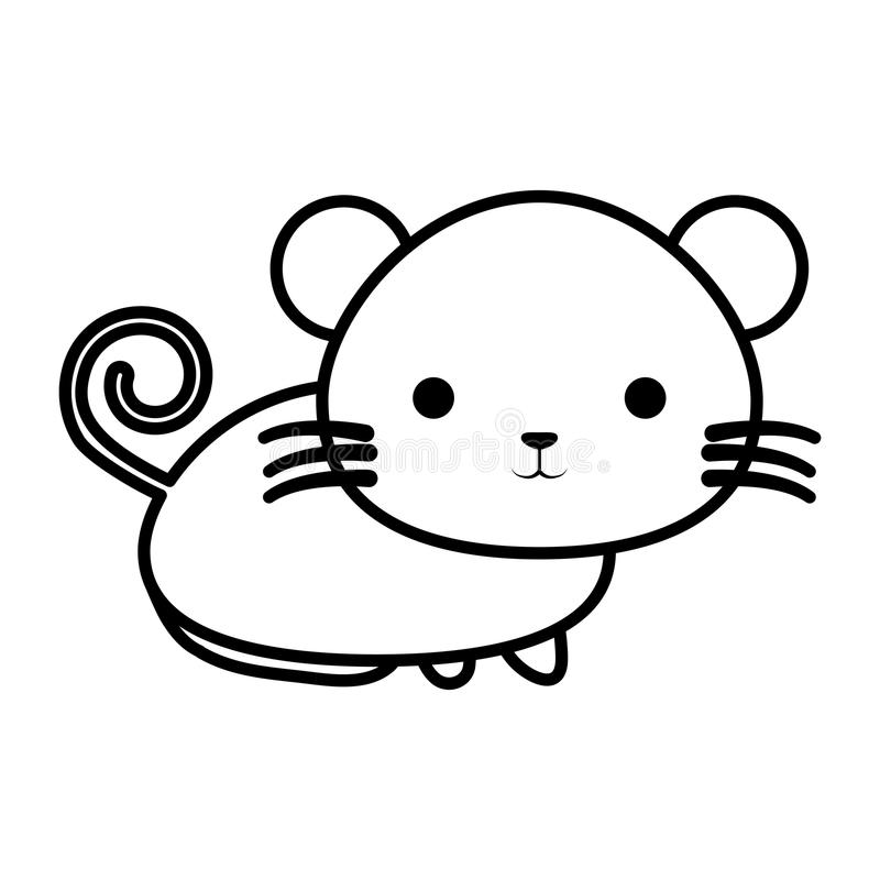 Icona isolata topo sveglio royalty illustrazione gratis