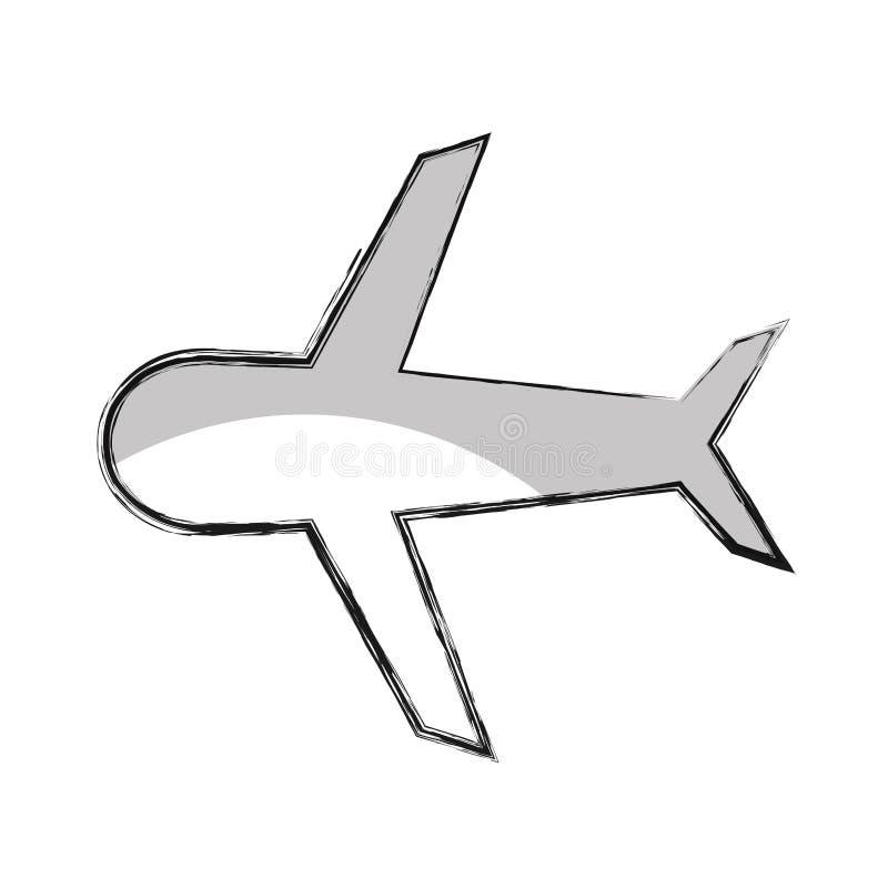 Icona isolata volo dell'aeroplano illustrazione vettoriale