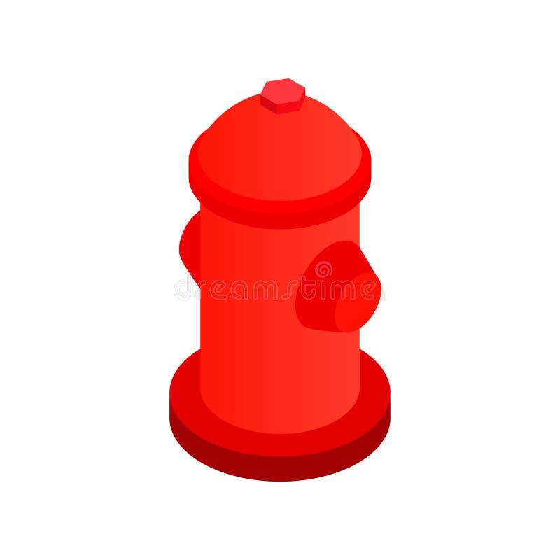 Icona isometrica 3d dell'idrante antincendio illustrazione di stock
