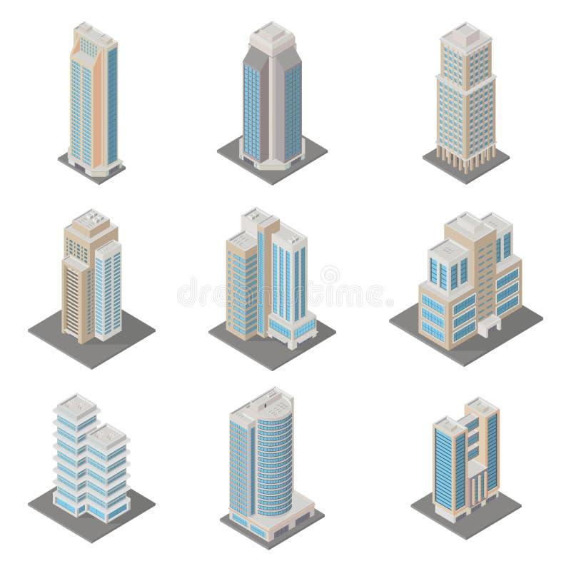 Icona isometrica della costruzione illustrazione vettoriale