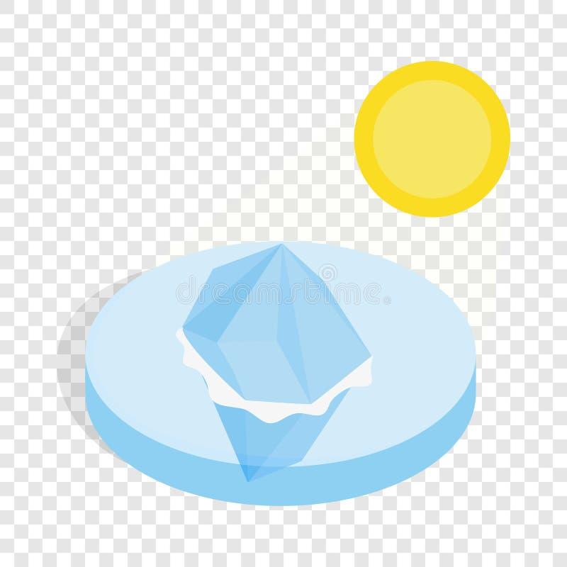 Icona isometrica di fusione dell'iceberg royalty illustrazione gratis