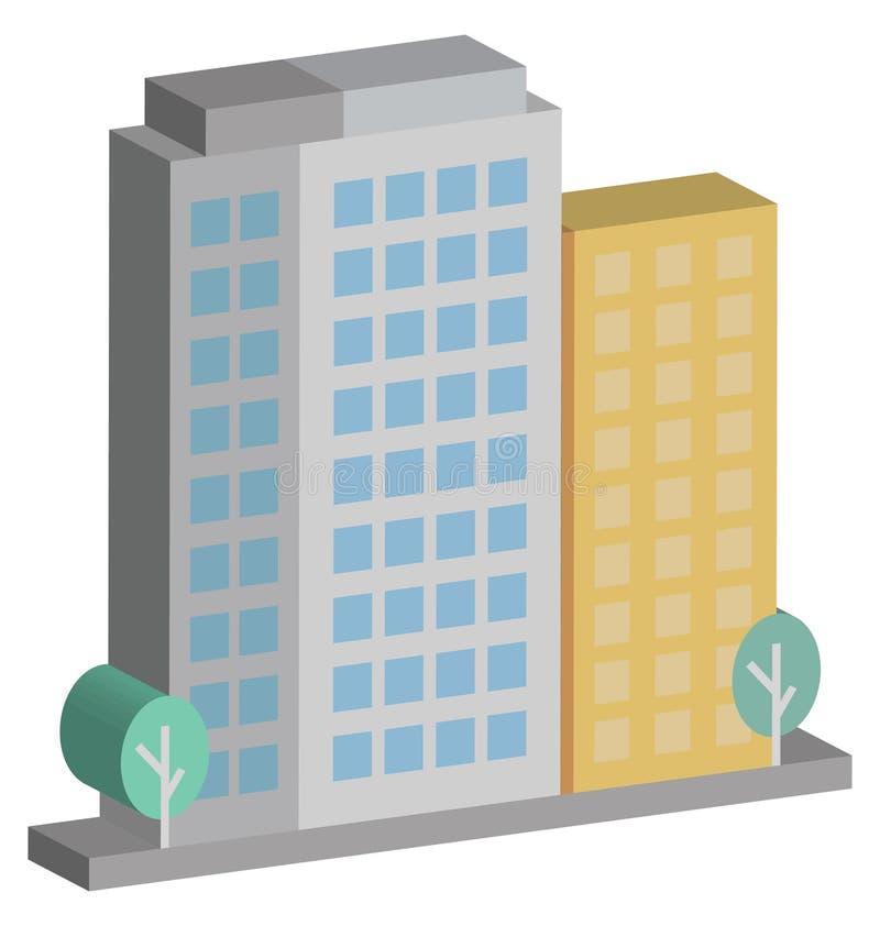 Icona isometrica di vettore degli appartamenti che può modificare o pubblicare facilmente illustrazione vettoriale