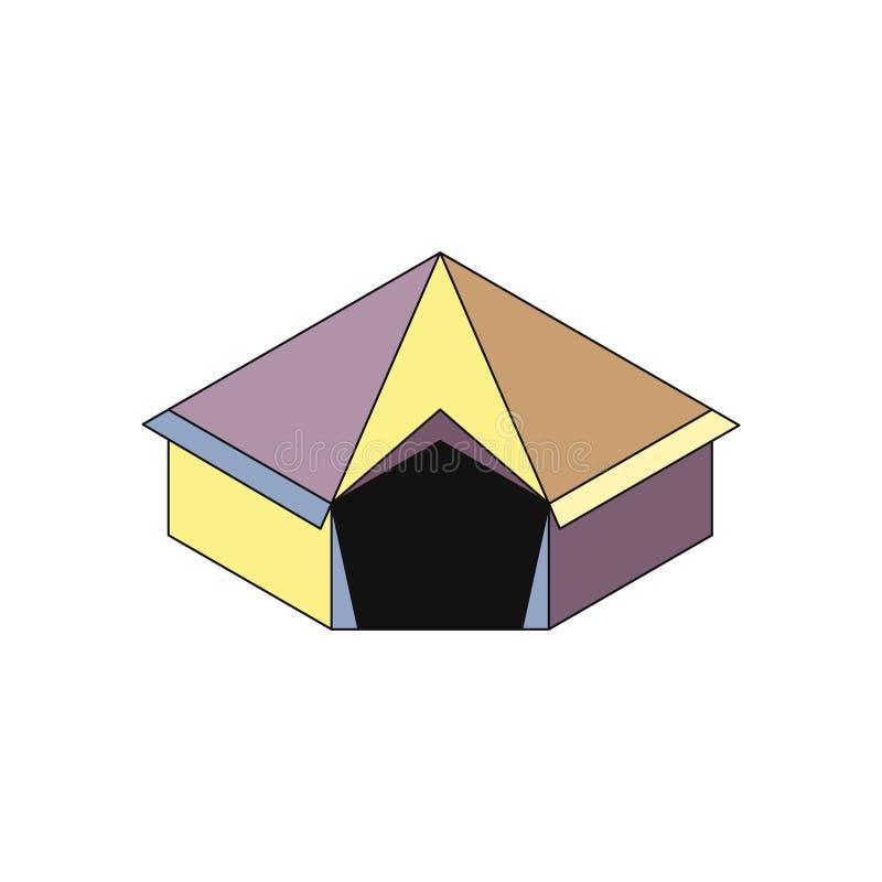 Icona isometry della tenda royalty illustrazione gratis