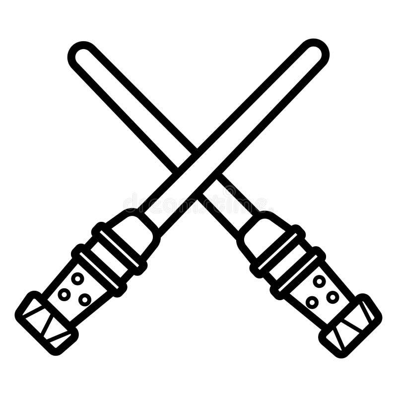 Icona leggera della spada royalty illustrazione gratis
