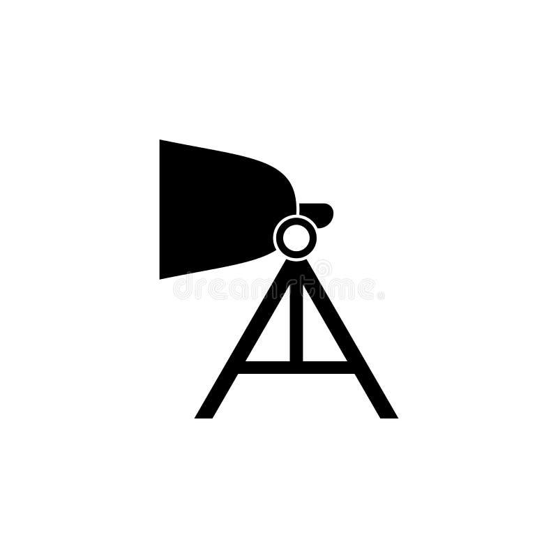 icona leggera dello studio Elemento dell'illustrazione di arte e del teatro Icona premio di progettazione grafica di qualità Segn illustrazione di stock
