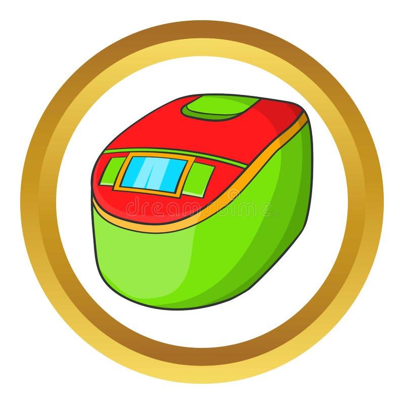 Icona lenta del fornello illustrazione di stock