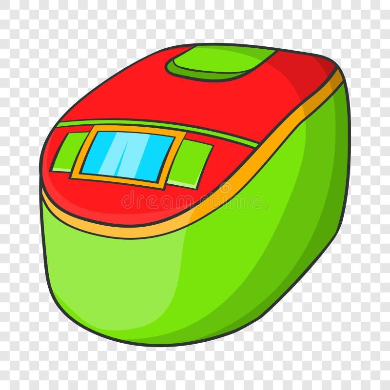 Icona lenta del fornello, stile del fumetto illustrazione vettoriale
