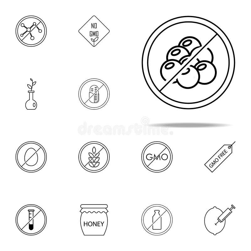 Icona libera del colesterolo Insieme universale delle icone di GMO per il web ed il cellulare illustrazione vettoriale