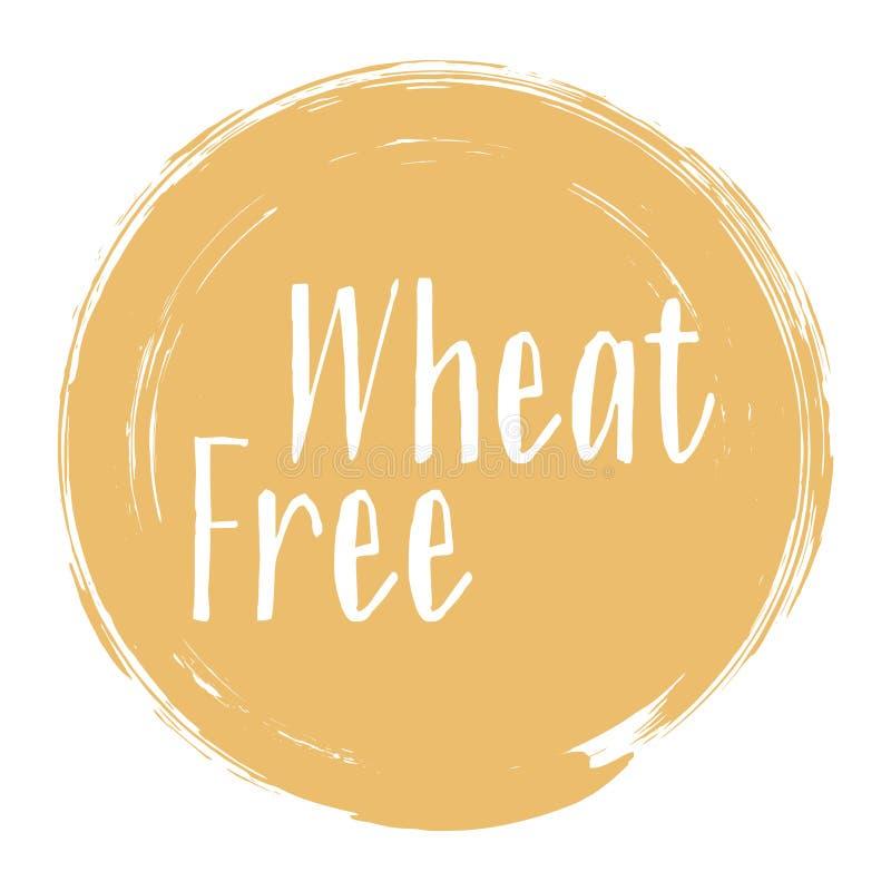 Icona libera del grano, progettazione di vettore dell'etichetta del pacchetto illustrazione di stock