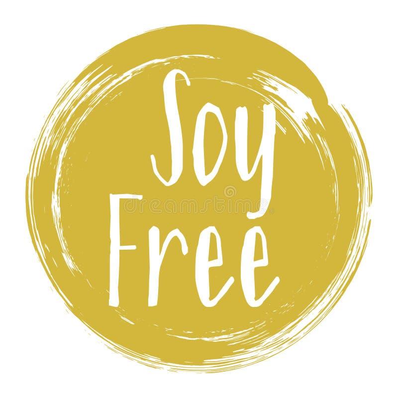 Icona libera della soia, progettazione grafica di vettore dell'etichetta del pacchetto royalty illustrazione gratis