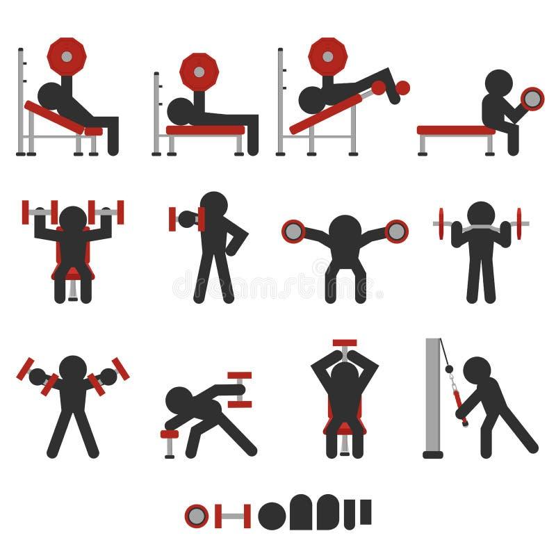 Icona libera di addestramento del peso illustrazione di stock