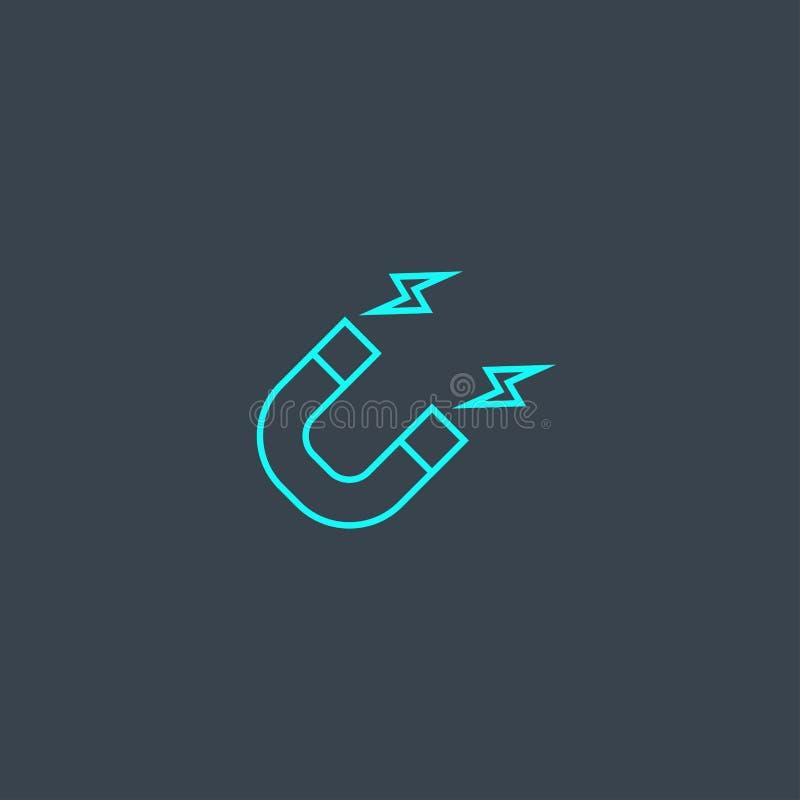 Icona linea blu concetto attrazione Semplice illustrazione di stock