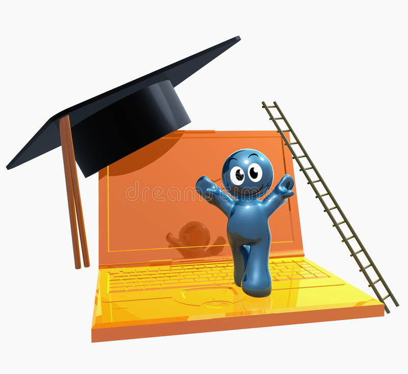 icona in linea di graduazione 3d illustrazione vettoriale