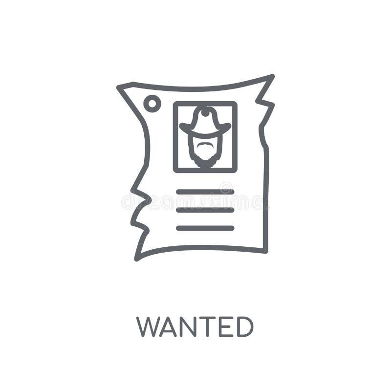 Icona lineare carente Concetto di logo carente profilo moderno su bianco royalty illustrazione gratis