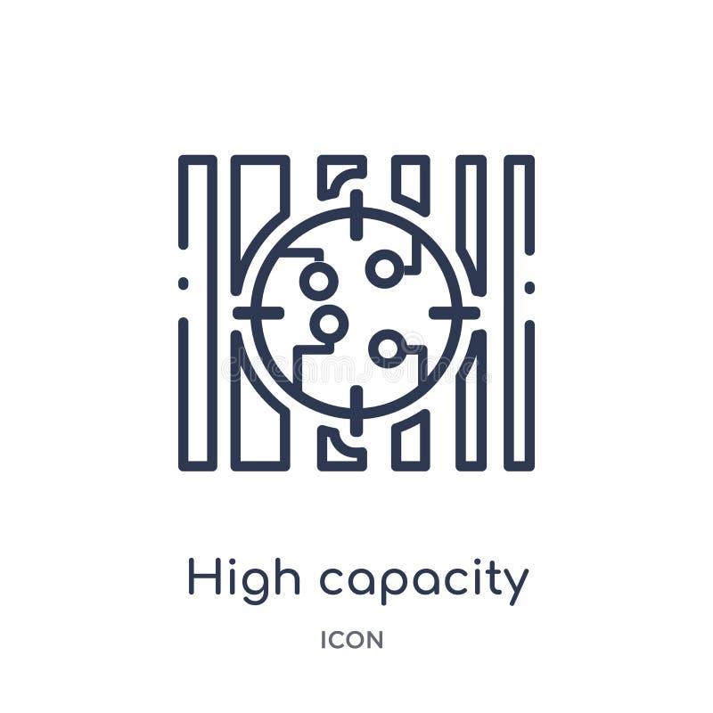 Icona lineare del codice a barre di colore di capacità elevata dal intellegence artificiale e dalla raccolta futura del profilo d illustrazione di stock