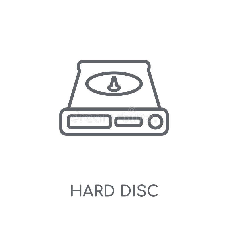 Icona lineare del disco fisso Concetto moderno di logo del disco fisso del profilo sopra illustrazione di stock