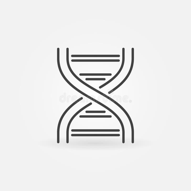 Icona lineare del DNA Vettore genetico e segno di scienza royalty illustrazione gratis