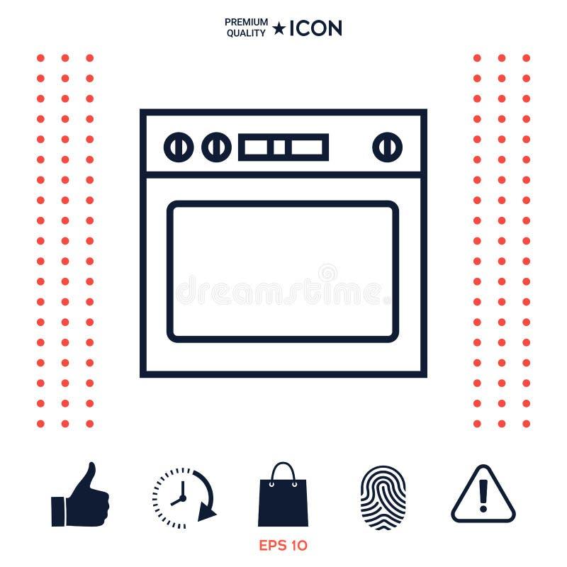 Download Icona lineare del forno illustrazione vettoriale. Illustrazione di oggetto - 117976170