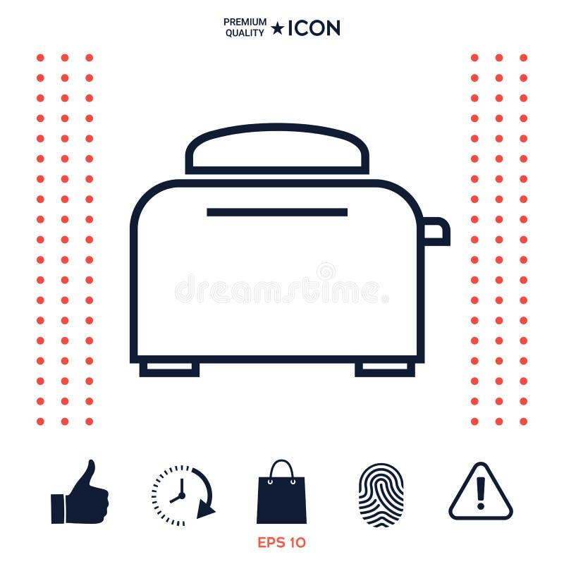 Download Icona Lineare Del Forno Del Tostapane Illustrazione Vettoriale - Illustrazione di cucina, tostapane: 117977429