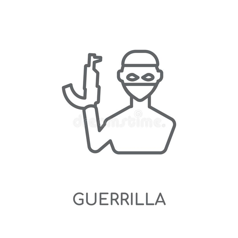 icona lineare del guerrigliero Concetto moderno di logo del guerrigliero del profilo sopra illustrazione di stock