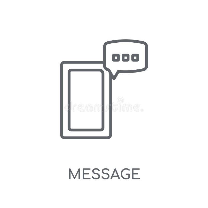 Icona lineare del messaggio Concetto moderno di logo del messaggio del profilo su briciolo illustrazione vettoriale