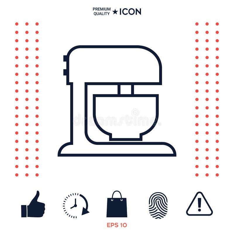 Download Icona Lineare Del Miscelatore Della Cucina Illustrazione Vettoriale - Illustrazione di icona, simbolo: 117975737
