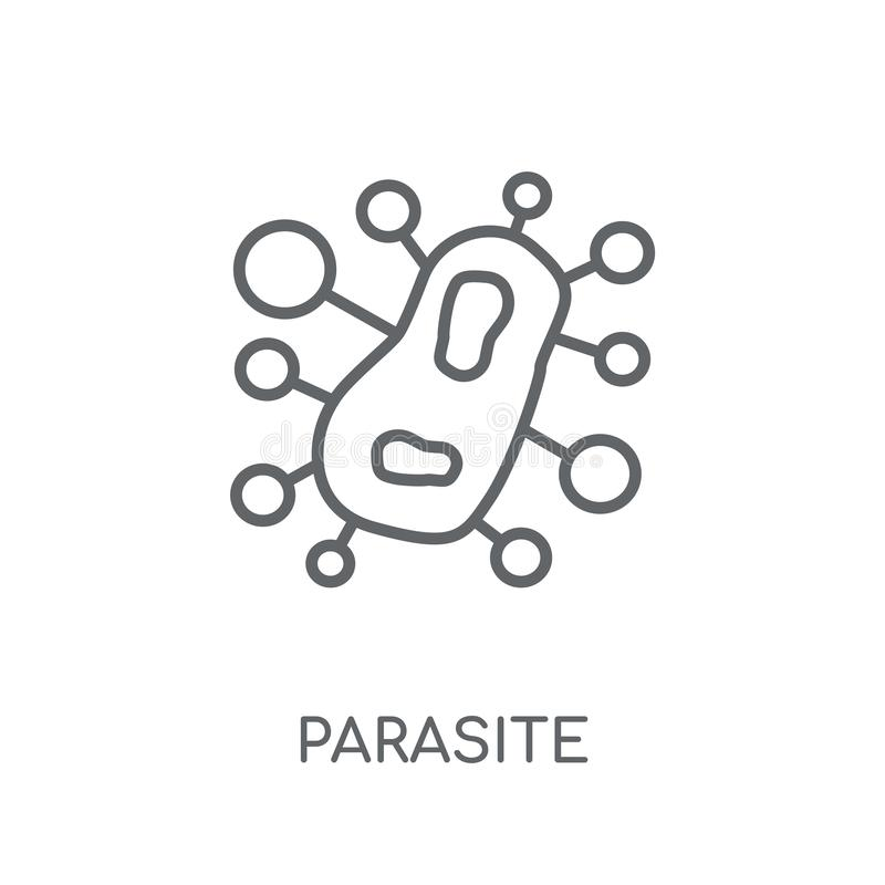 icona lineare del parassita Concetto moderno di logo del parassita del profilo su wh royalty illustrazione gratis
