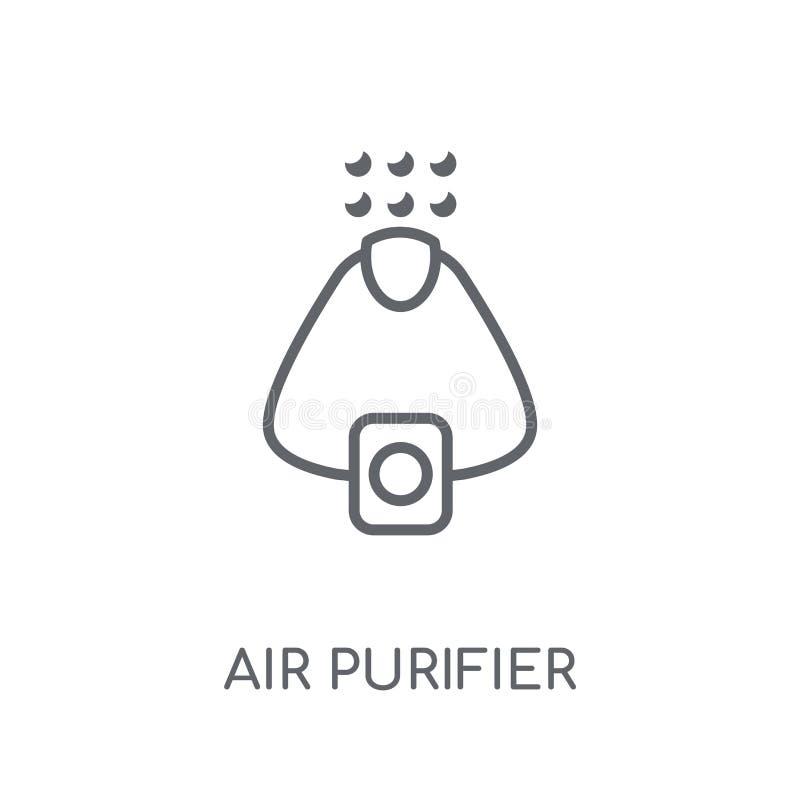 Icona lineare del purificatore dell'aria Conce moderno di logo del purificatore dell'aria del profilo illustrazione vettoriale