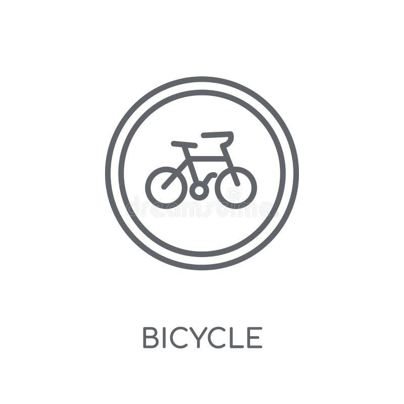 Icona lineare del segno della bicicletta Conce moderno di logo del segno della bicicletta del profilo royalty illustrazione gratis