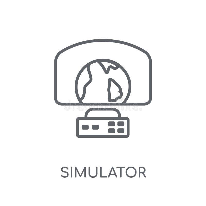Icona lineare del simulatore Concetto moderno di logo del simulatore del profilo sopra illustrazione vettoriale