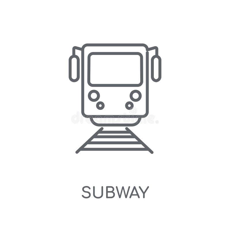 Icona lineare del sottopassaggio Concetto moderno di logo del sottopassaggio del profilo su bianco illustrazione vettoriale